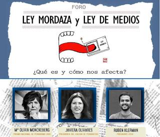 """Colegio de Periodistas participó del Foro """"Ley Mordaza y Ley de Medios"""""""
