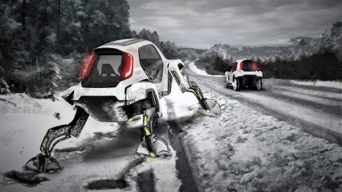 Hyundai unveils video of its car that climbs and walks on 4 legs - About News