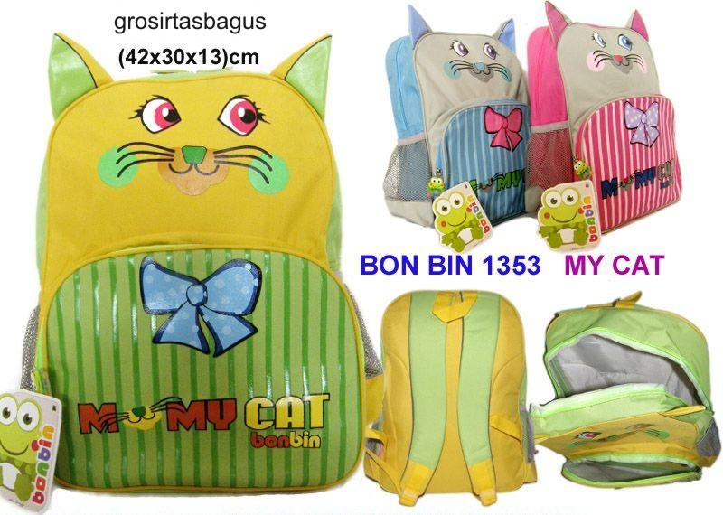 Free Zone: Tas Murah Anak Sekolah Cewek BON BIN 1353 - My Cat