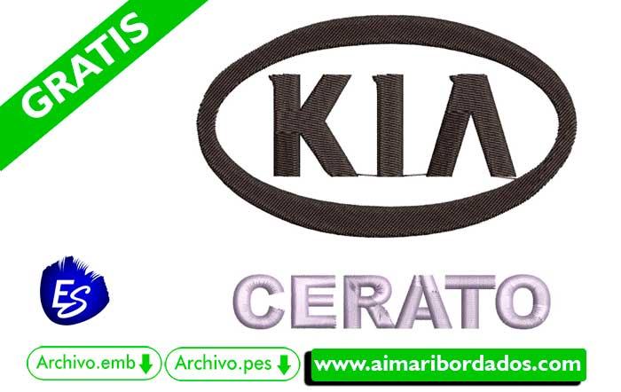 Logo Kia Ceratos Para Bordar