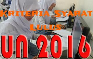 Kriteria Syarat Lulus UN 2016