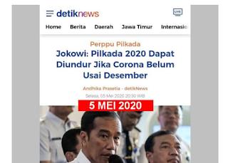 [JEJAK DIGITAL] Jokowi: Pilkada 2020 Dapat Diundur Jika Corona Belum Usai Desember