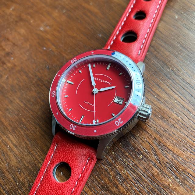 Martenero Bayshore red, red rally strap