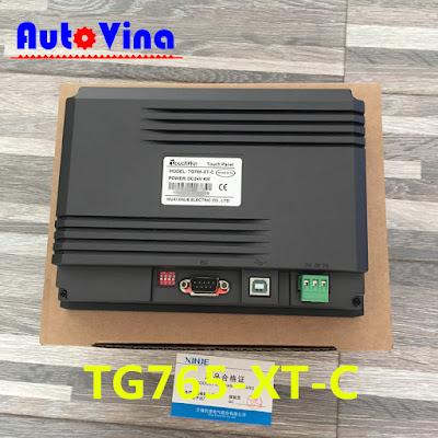 Bảng giá và tài liệu lập trình màn hình cảm ứng HMI Xinje TG765-XT-C