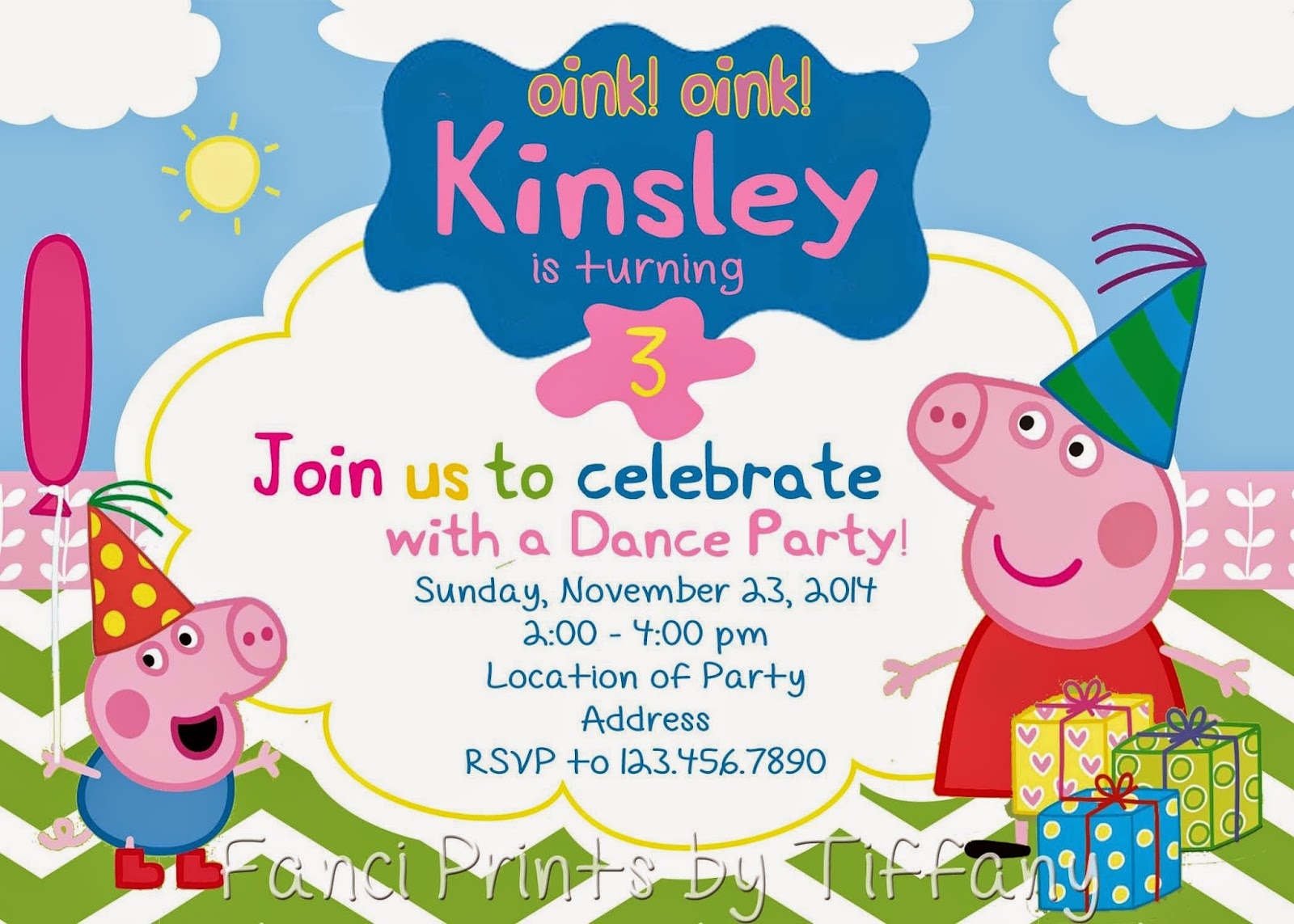Fanci Prints by Tiffany: Birthday Party Invitations