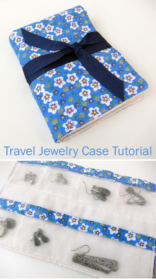 Travel Jewelry Case Bag DIY Tutorial