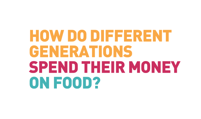 How Do Different Generations Spend Their Money on Food?