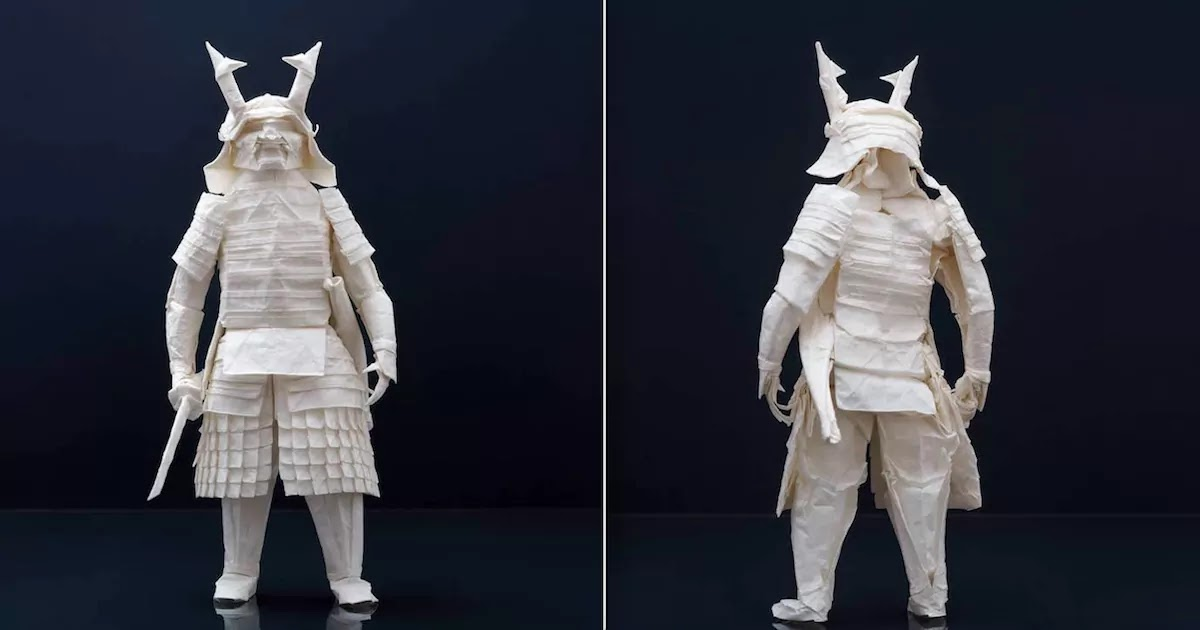 This Amazing Origami Samurai Warrior Was Created By A Japanese Artist Using Only One Piece Of Paper