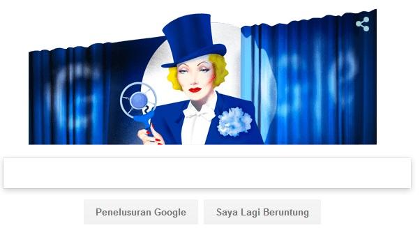 Logo Google Doodle Marlene Dietrich Penentang Nazi Jerman?