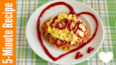 5 MIN Omurice with Creamy Scrambled Eggs