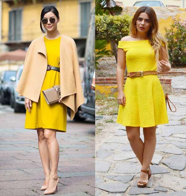 Como podemos combinar un vestido amarillo