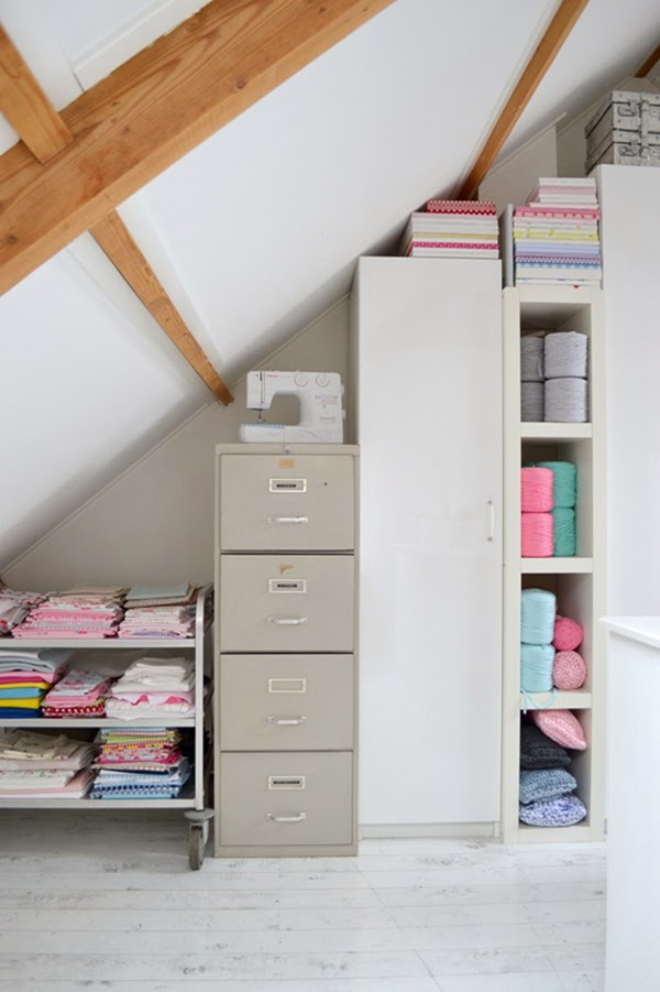 craft storage for fabric and yarn