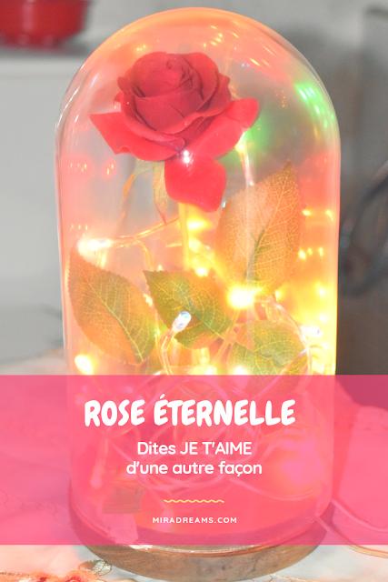 DIY : La rose enchantée de La Belle et la Bête, Rose éternelle