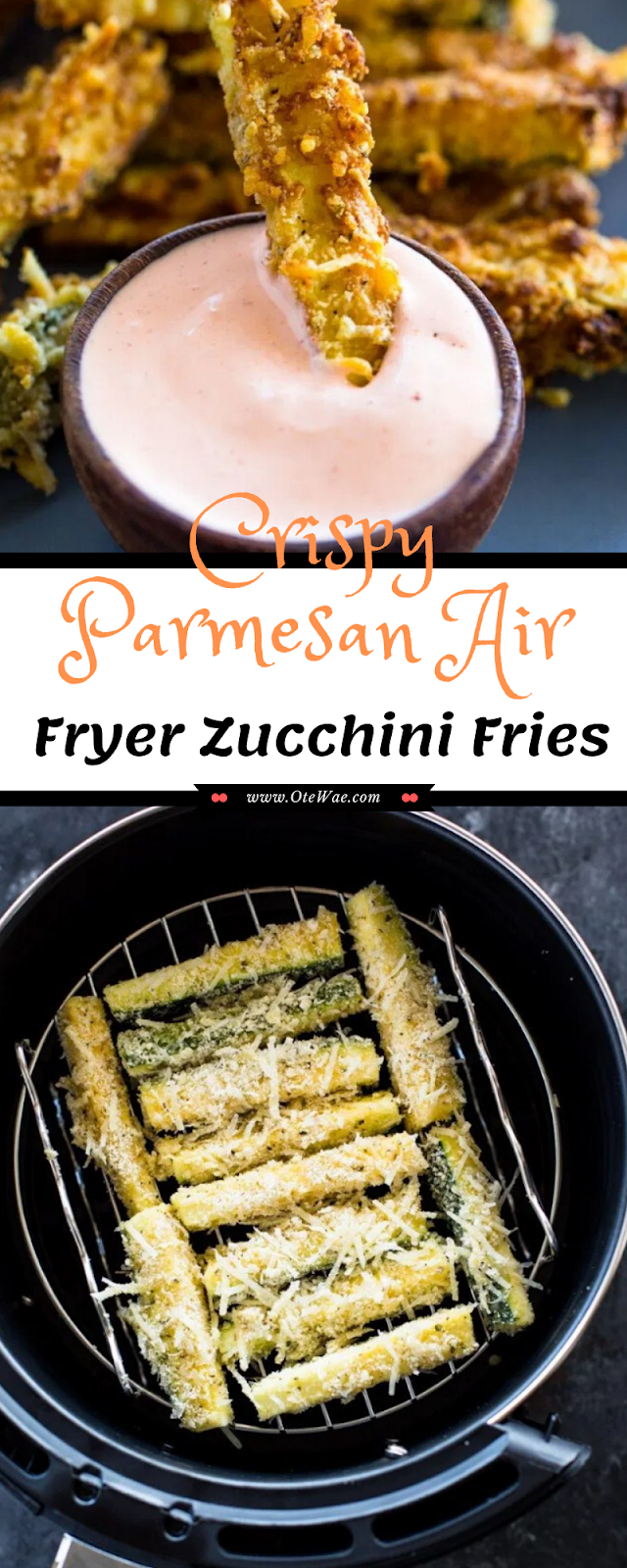 Crispy Parmesan Air Fryer Zucchini Fries
