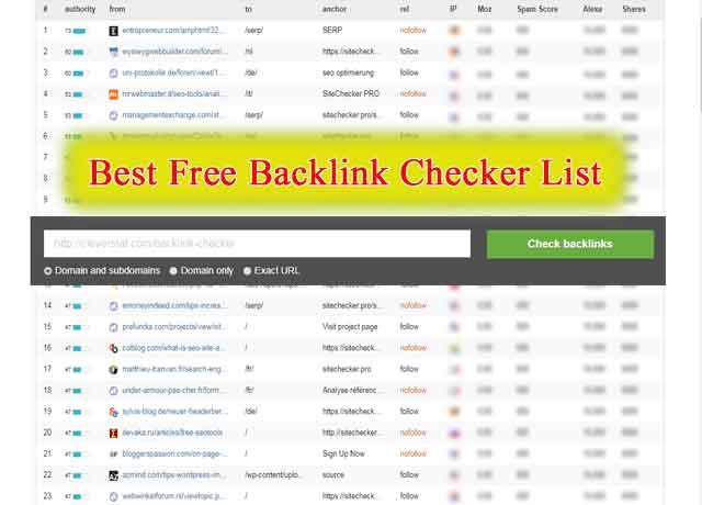Best backlink-checker List for Increasing Website Authority
