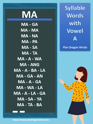 Let's Climb the Ladder of Reading! Syllable Words with the Big Vowel Letter A - Effective Reading Guide for Kids