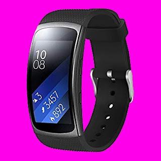 Samsung Gear fit2 fit 2 SM-R360 Silicon Watch (Black)