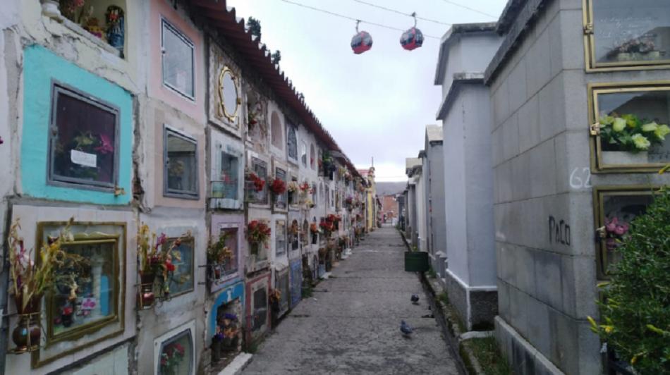 Una vista del cementerio general de La Paz / WEB