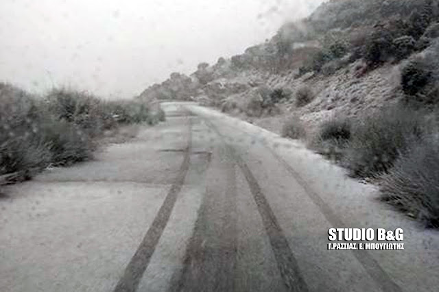 Ποια ειναι η εικόνα από τις χιονοπτώσεις στην ορεινή Αργολίδα