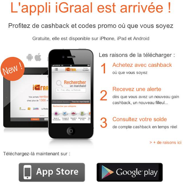iGraal pour réserver ses vacances et l'application mobile