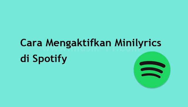 Cara Mengaktifkan Minilyrics di Spotify