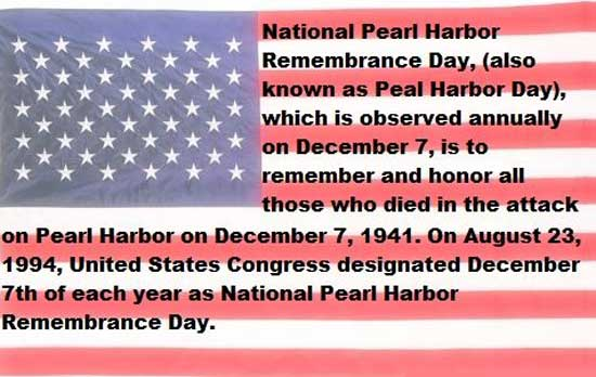 National Pearl Harbor Day Story