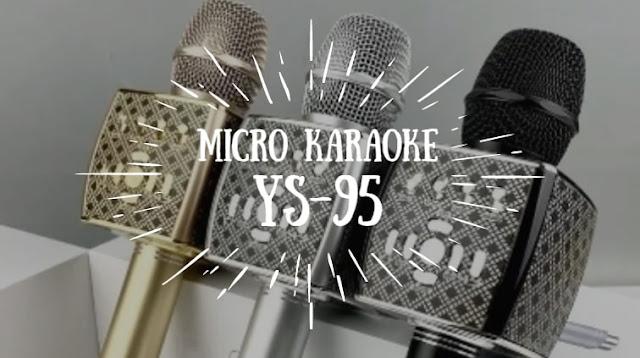 Micro kết nói với điện thoại cao cấp YS-95 [Chính hãng] tích hợp loa bass không dây dùng hát tại nhà , hát live stream
