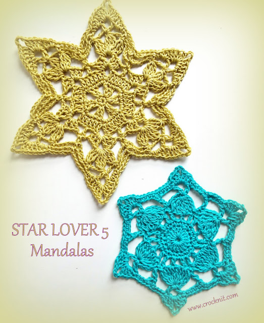 how to crochet, mandalas,motifs, stars, free crochet patterns,