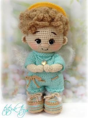 Кукла ангел схема крючком