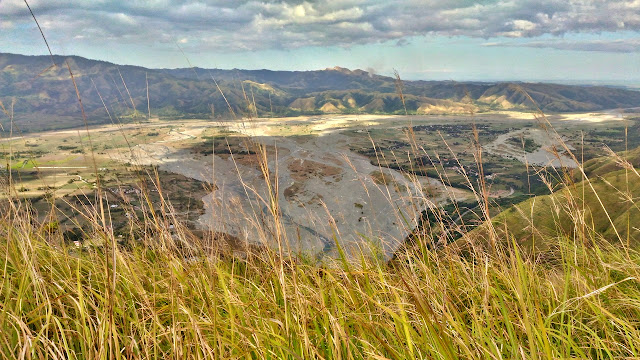 The view of the lowlands from the peak of Mount Sawi Gabaldon Nueva Ecija