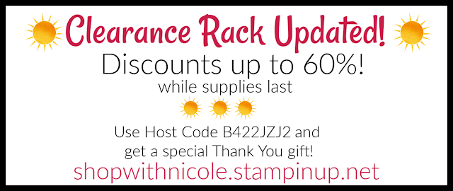 Stampin' Up! Clearance Rack updated!  Shop with Nicole Steele for discounts up to 60%!