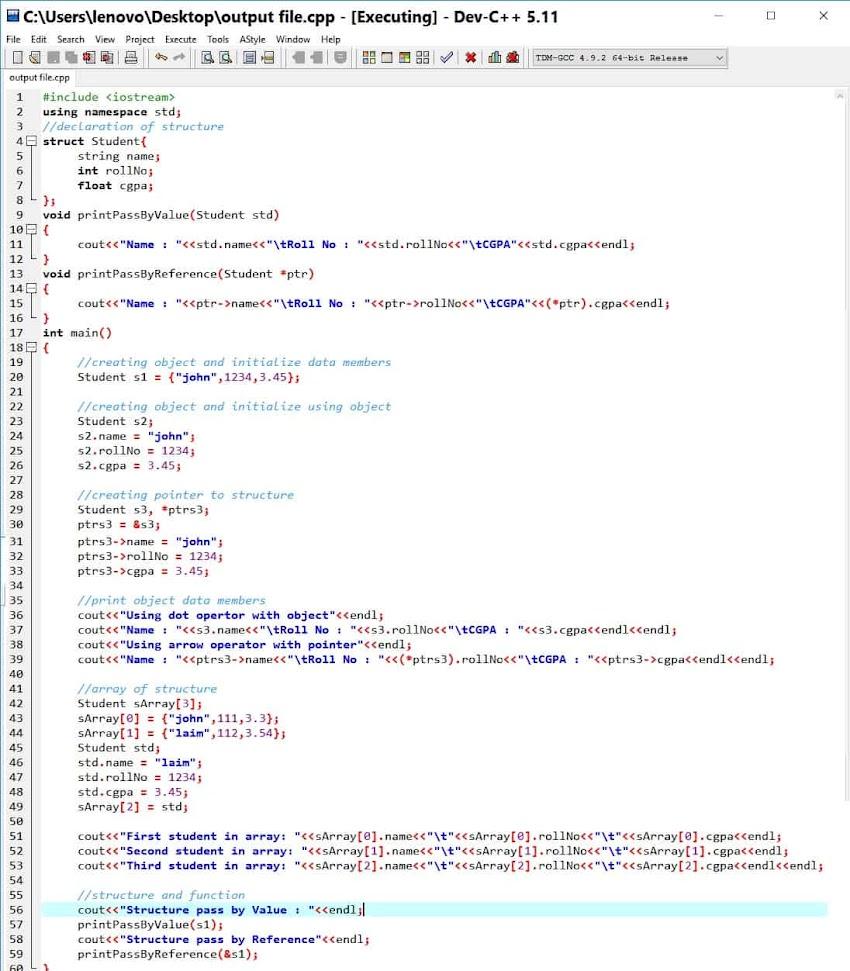 C++ Structure
