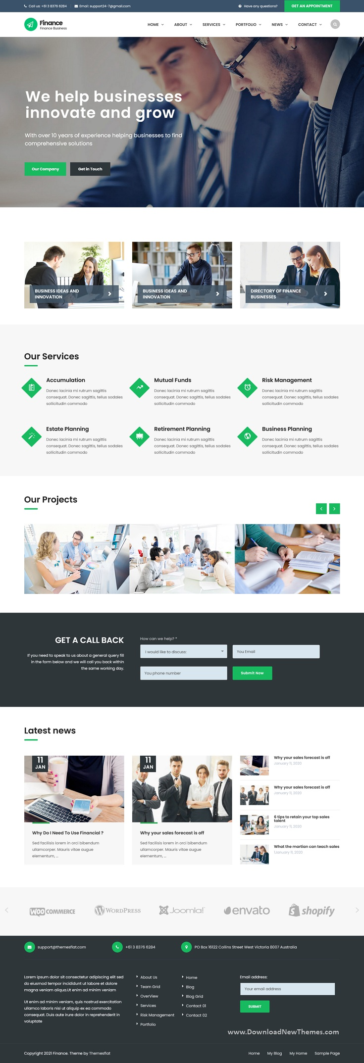 Finance Consulting, Accounting Bootstrap Template