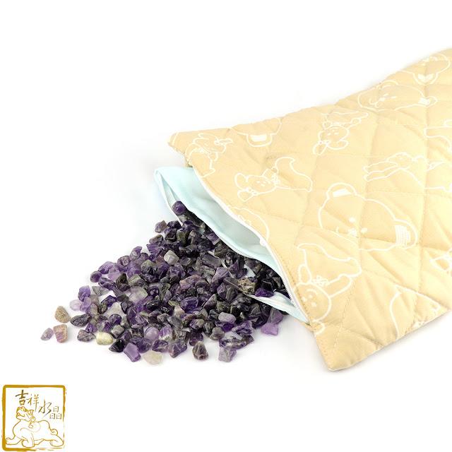水晶碎石枕頭