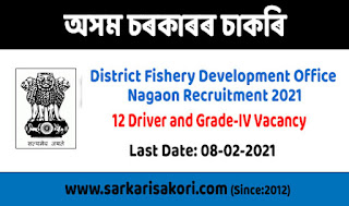 District Fishery Development Office Nagaon Recruitment 2021