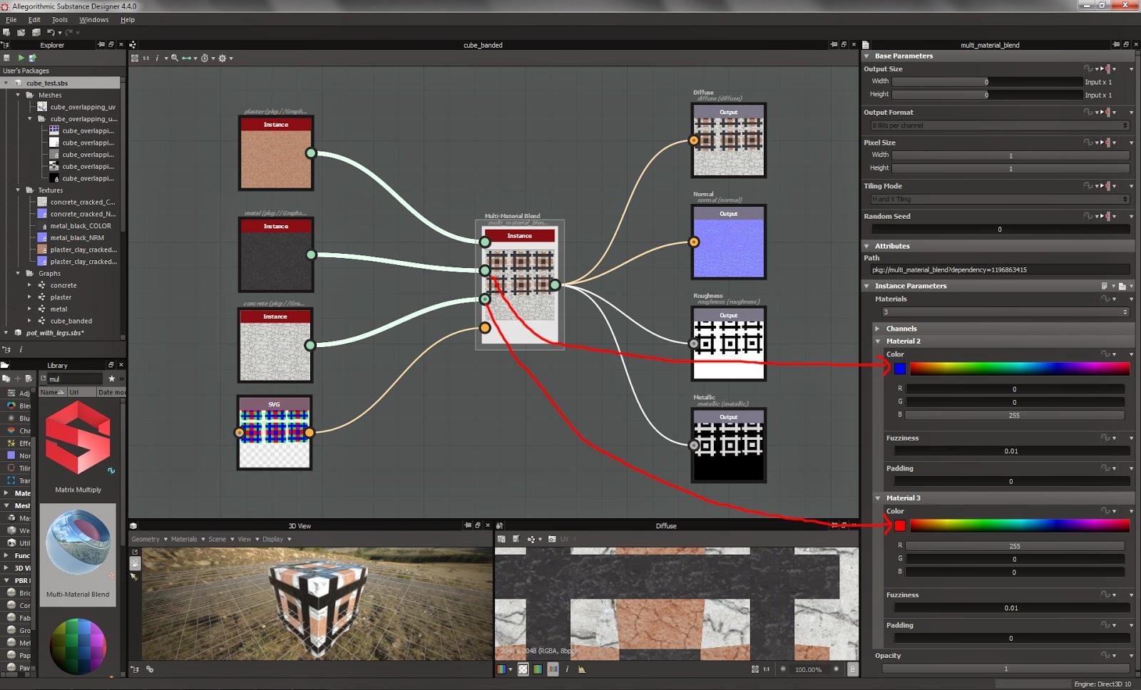 Sean's Vive Dev Blog: Multi-Texture Materials in UE4