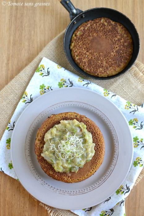 Pancakes à la farine de teff - Chandeleur