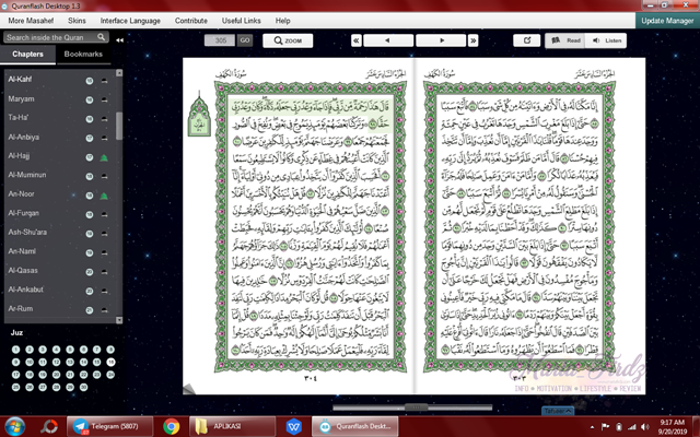 Quranflash - Software untuk baca al-Quran di PC/Laptop