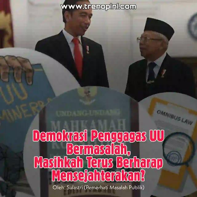 Sejumlah produk legislasi berupa undang-undang lahir di tahun 2020, hal ini sekaligus menjadi tanda genapnya satu tahun pertama pemerintahan Jokowi - Ma'ruf.