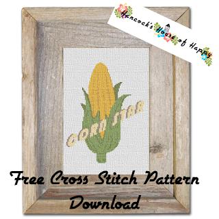 Free Corn Star Cross Stitch Pattern