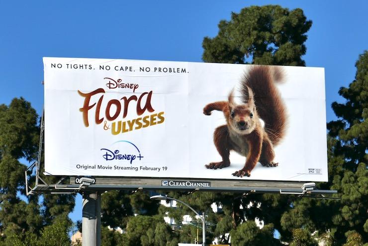 Flora and Ulysses movie billboard