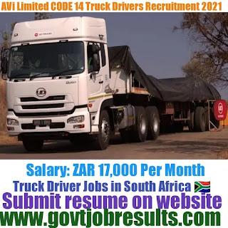 AVI limited CODE 14 Truck Driver Recruitment 2021-22