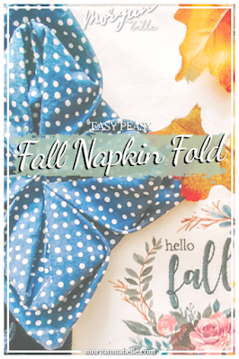Fall napkin fold for Pinterest