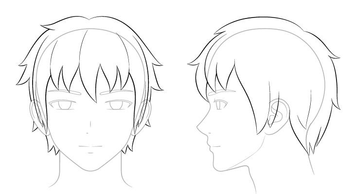 Langkah 6 - Menggambar Rambut