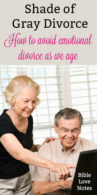 More and more marriages are ending as people enter their retirement years. This short devotion encourages us with scriptural principles. #Divorce #SeniorMarriage #Marriage #BibleLoveNotes