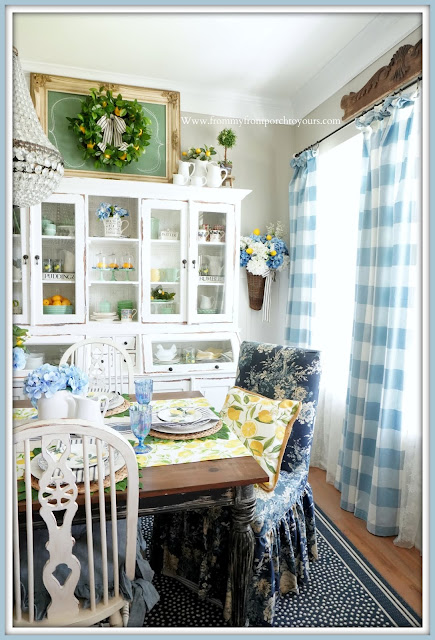 French Farmhouse-Blue & White-Dining Room-From My Front Porch To Yours