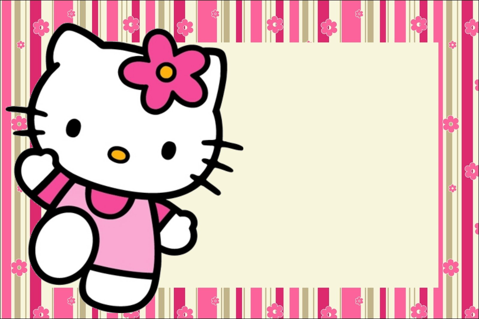 hello kitty with flowers free