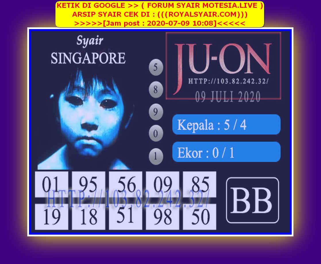 Kode syair Singapore Kamis 9 Juli 2020 182