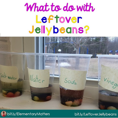 What to do with leftover jellybeans - this is about a resource that makes it easier for teachers to share hands-on science and social studies activities for their primary students.