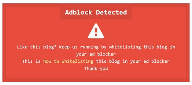 Notifikasi Anti Adblocker